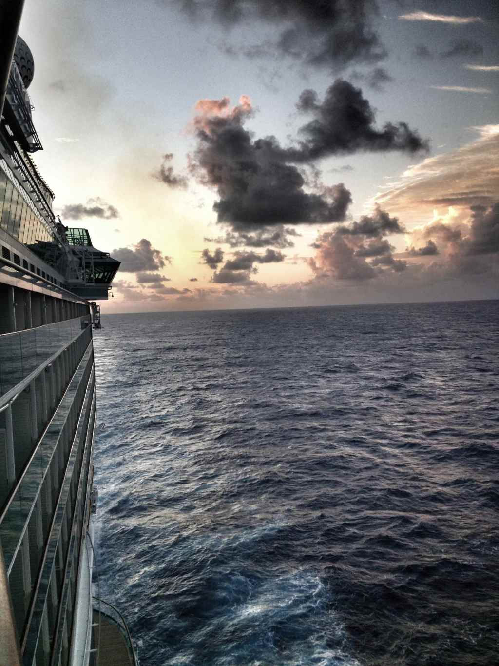 Sunset on Royal Caribbean cruise