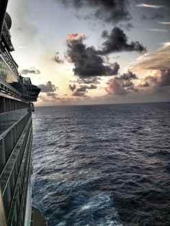 Sunset on Royal Caribbean cruise