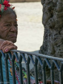 Woman in Plaza des Armas Havana