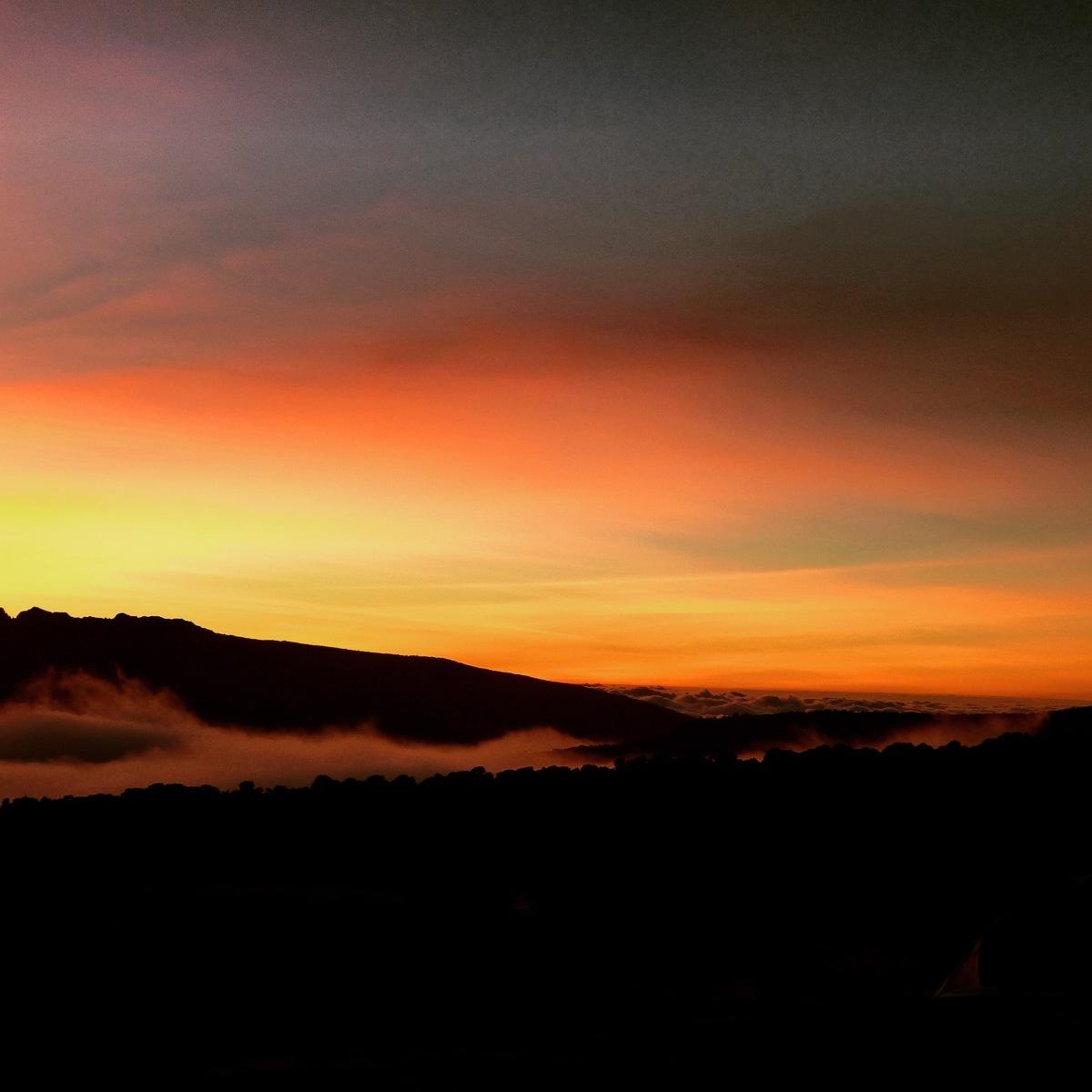 Sunset on Mount Kilimanjaro Tanzania